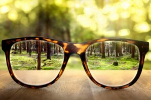 seeing clearly through glasses